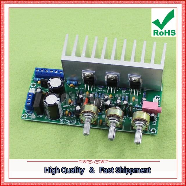 TDA2050 + TDA2030 2,1 drei kanal/weg modul subwoofer verstärker fertig bord fuß 60W 0,6 KG
