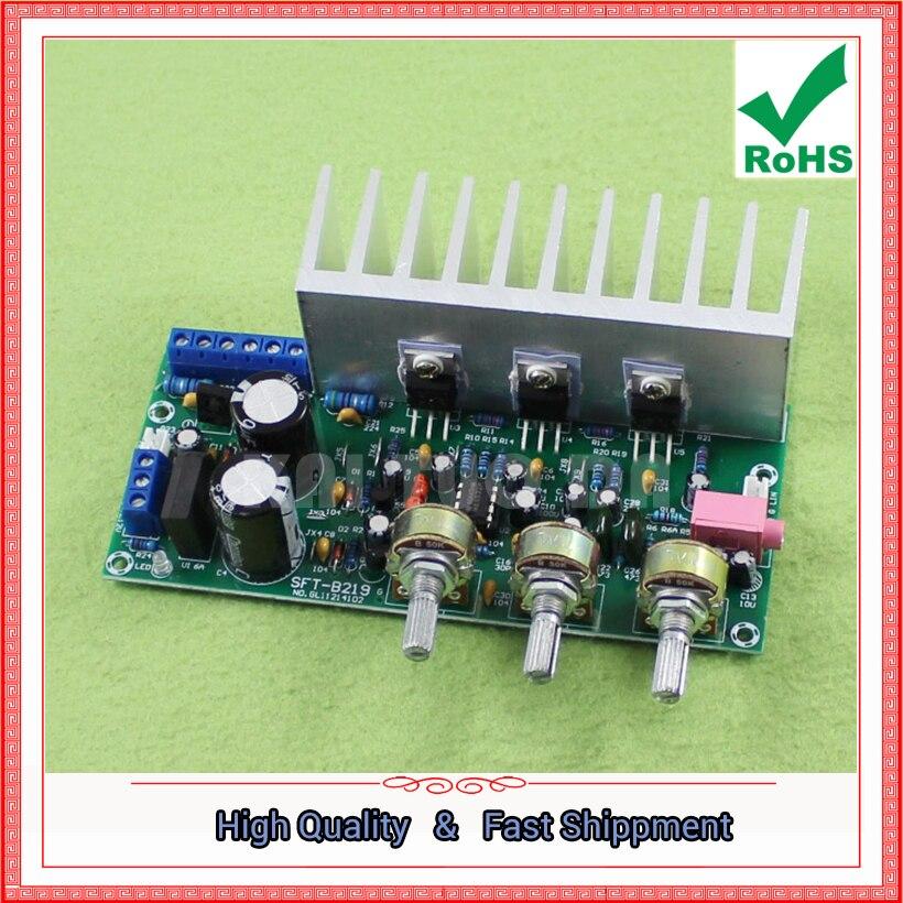 TDA2050 + TDA2030 2.1 three-channel/way module subwoofer amplifier board finished board foot 60W  0.6KGTDA2050 + TDA2030 2.1 three-channel/way module subwoofer amplifier board finished board foot 60W  0.6KG