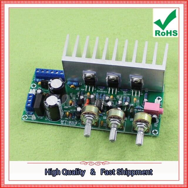 Tda2050 + tda2030 2.1 three channel/way módulo subwoofer placa amplificador terminado pé 60 w 0.6 kg