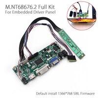 LCD Denetleyici Kurulu 1366x768 1ch 6/8-bit 40 Pins Için HDMI DVI VGA Ses PC Modülü Kiti B156XW02 15.6 Inç Ekran