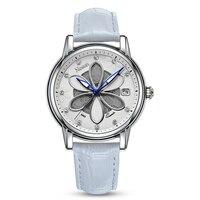 Nouveau Suisse Nesun Femmes de Montres De Luxe Marque Quartz Montre Femmes Six-feuille herbe conception Horloge Diamant Montres N9065-4