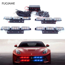 лучшая цена Auto Car Flash 4 X 9 LED Strobe Flash Light 30W Red Blue White Green Amber Warning Light 36LED 12V with Retail Box Free Shipping