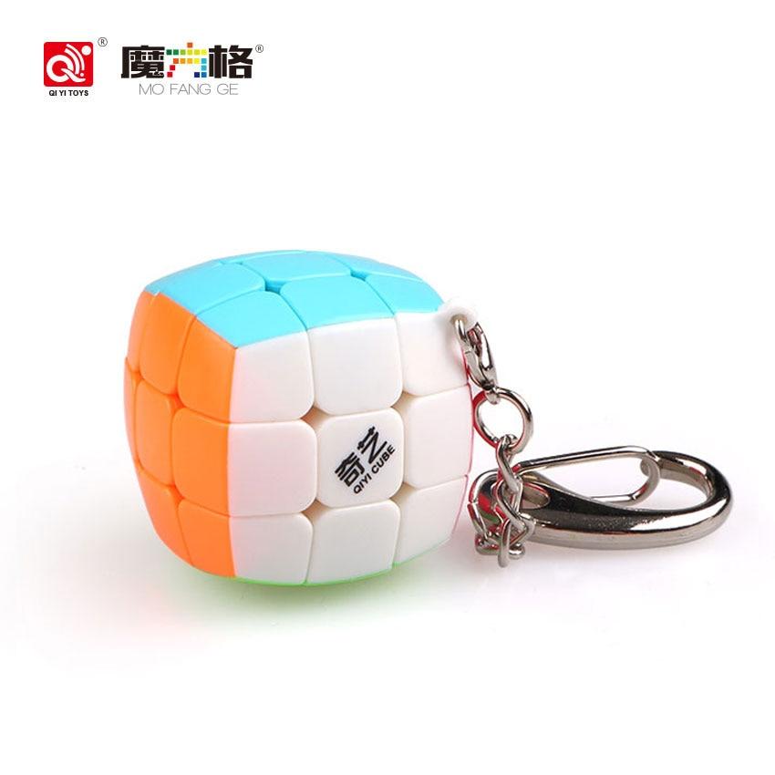 Qiyi Magic Cube Keychain სიჩქარე Puzzle Mini Cube 3x3x3 - ფაზლები - ფოტო 1
