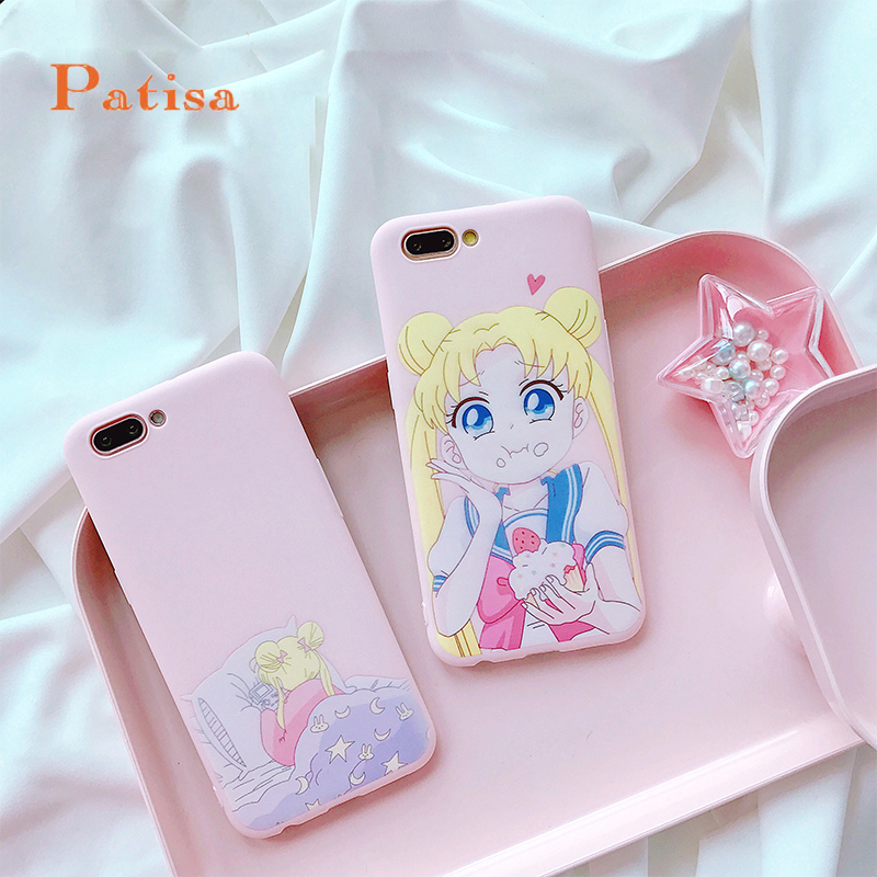 Phone Bags & Cases Cellphones & Telecommunications New Girls Pink Stylish Cartoon Sailor Moon Matte Cute Soft Back Full Cover Case For Iphonex 8/6s 7plus Skinny Shell Protection Save 50-70%