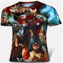 Hero alliance T-shirt men's short sleeve T-shirt 2015 new summer wear men's clothing han edition tide male coat anime