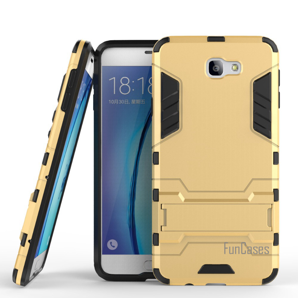 For Samsung Galaxy On7(2016) G6100 Case Hybrid Rugged Armor Hard PC+TPU Shockproof With Kickstand Case For Galaxy J7 Prime