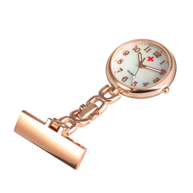 Clip-on Fob Nurse Pin Watch Quartz Brooch Hanging Fashion Men Women Unisex Pocke