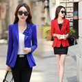 Fashion Autumn Women Blazer Butterfly bow tie Long sleeve red Pink blue Jacket Suit Casual Coat Slim Outerwear blazer feminino