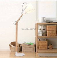 fancy deco hotel standing folding wood modern standing floor lamp light