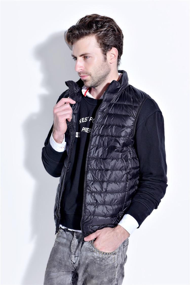 2017 New Casual Brand Men Sleeveless Jacket Winter Ultralight White Duck Down Vest Male Slim Vest Mens Windproof Warm Down Coats