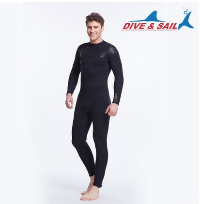DIVE&SAIL 5MM Neoprene Men Women Scuba Diving Suit Fleece Lining Warm Wetsuit Snorkeling Surfing Spearfishing SwimwearBoardSuit slinx discover 1106 5mm neoprene men fleece lining warm wetsuit swimming snorkeling triathlon spearfishing scuba diving suit