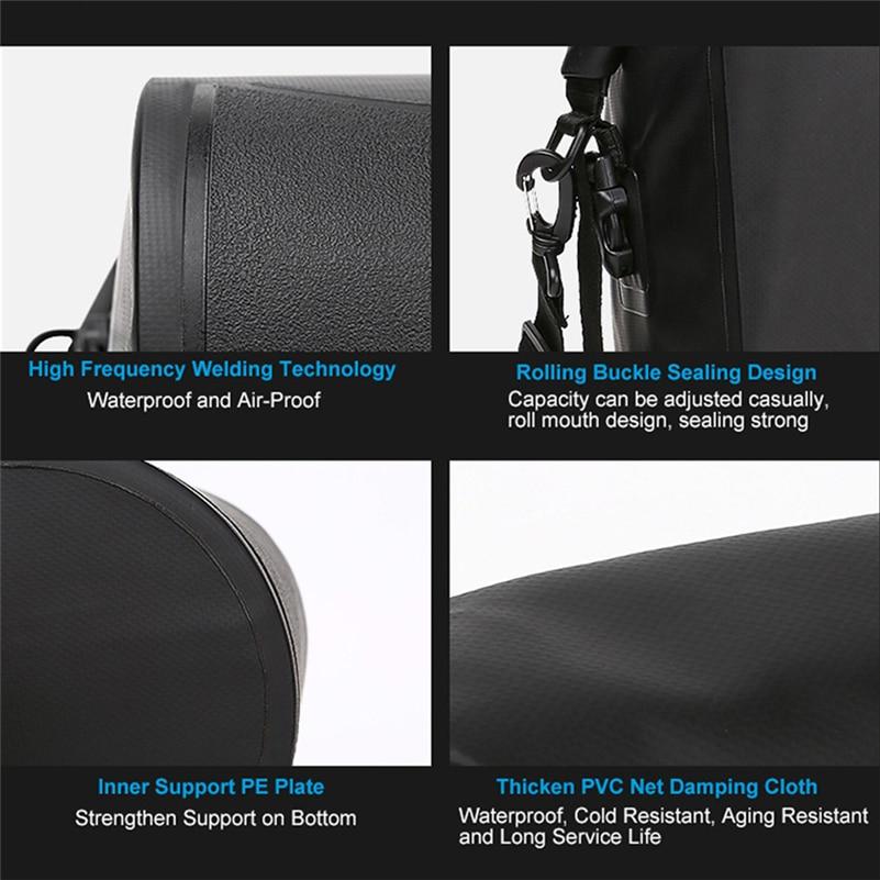 1661fc05ed4 Roswheel impermeable PVC bike Carrier bag Bicicletas Pannier asiento  trasero tronco bolsa Ciclismo unilateral alforjas Bolsas 20l en Bolsas de  bicicleta y ...