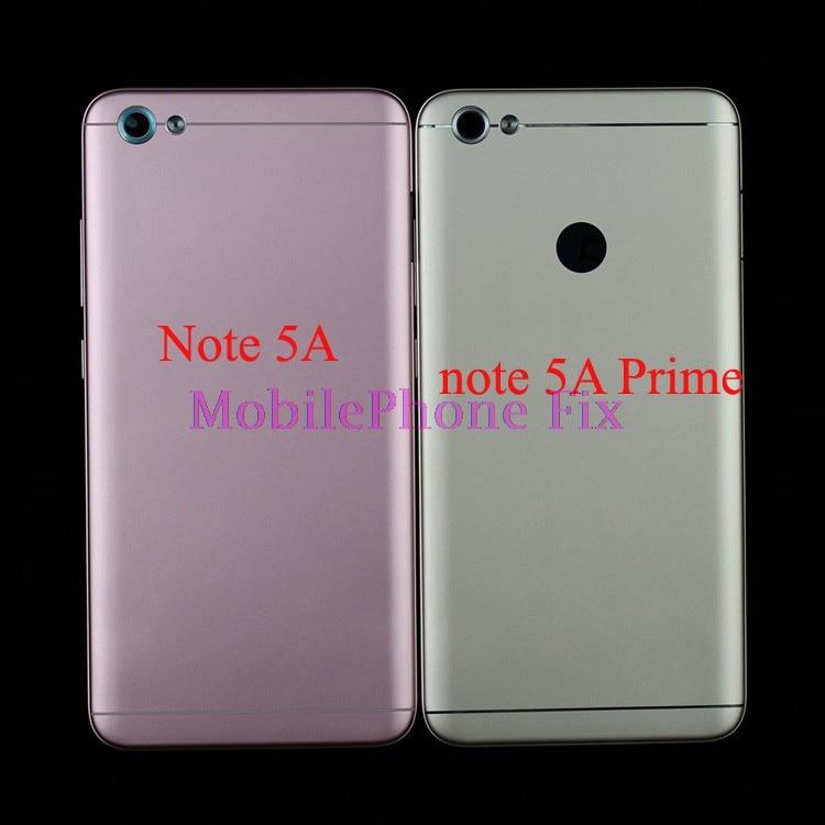 Tampa traseira Para Xiaomi Redmi Nota 5A/Note 5A Prime Caso Tampa De Metal de Volta Habitação Porta Da Bateria Case + poder Botão Voluem Conjunto