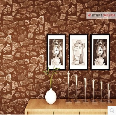 ФОТО Features simple imitation stone English alphabets sitting room bedroom wallpaper clothing shop barber's cafe background wall