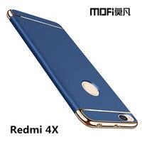Redmi 4x Case Cover Xiaomi Redmi 4x Back Case Hard Coque Phone Fundas MOFi Original Red