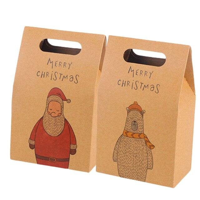 1 pz di Natale Babbo Natale Deer Festival di Favore Scatola di Carta di Caramell