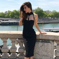 New Fasion High Quality Women Dress Hollow Up Halter Backless Bandage Dress Party Dress 2018