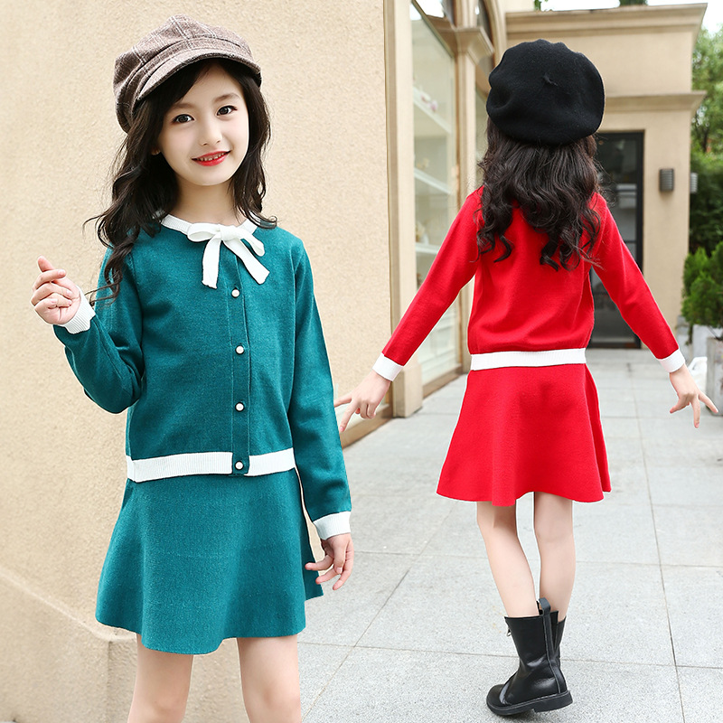 Spring 2018 Kids Dresses For Girls 5 6 7 8 9 10 11 12 13 Years Teenagers Baby Girl Sweater Dress Clothes Disfraces Infantiles kids clothes sets for girls 4 5 6 7 8 9 10 11 12 13 14 years 2018 spring baby girl clothing long sleeve blouses skirt leggings