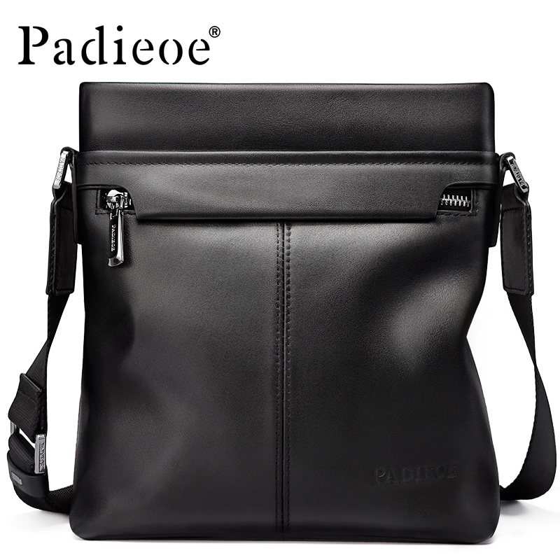Padieoe 2017 Men Shoulder Bags Genuine Leather Briefcase Business Casual Brand Handbag Men's Messenger Travel Bag Free Shipping padieoe men shoulder bags genuine leather briefcase brand men s messenger bag business casual travel crossbody bags free ship
