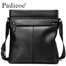Padieoe 2017 Men Shoulder Bags Genuine Leather Briefcase Business Casual Brand Handbag Men's Messenger Travel Bag Free Shipping