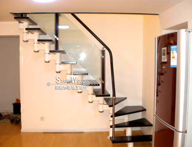 Steel And Wood Spiral Staircase Stairs Interior Attic Mini Penthouse