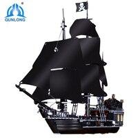 Qunlong Pirates Of The Caribbean Black Pearl Ship Building Blocks DIY Educational Toys For Kids Xmas Gifts Compatible Legoings