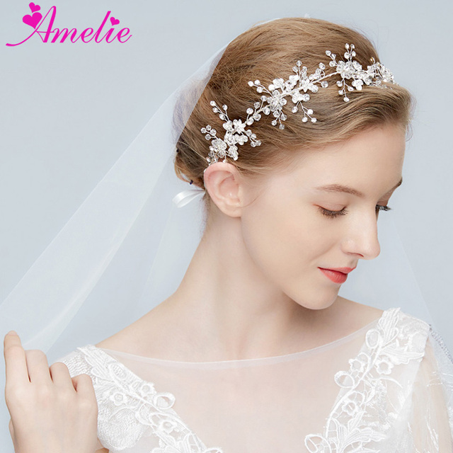 3d73c66bf Delicate Crystal Rhinestone Hair Vine For Veil 2018 Collection Wedding  Women Headpiece Headbands Prom Party Hair