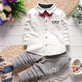 2016 Spring Autumn Baby Boys/Girls Clothes Set Children Outfits Gentleman Clothing Set Glasses Shirt Pant 2pcs Kids Suit 22