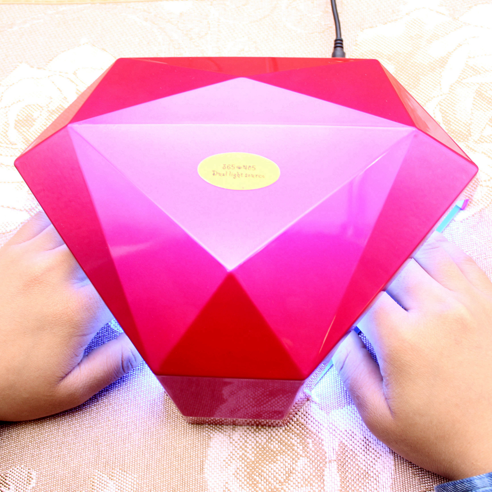 60W Diamond Shaped UV Led Lamp Nail Dryer 30pcs LED UV Nail Lamp Curing for UV LED Polish Gel Manicure Nails Tools 36w uv led lamp nail dryer 4 color diamond shaped led uv lamp nail lamp curing for uv led gel nails polish nail art tools