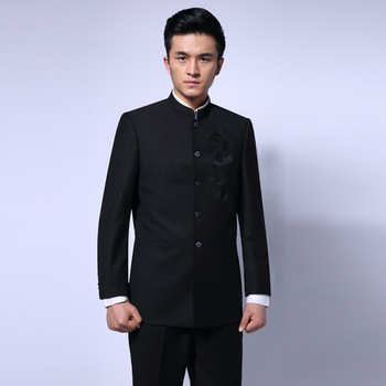 Chinese Tunic Suit Men Traditional Suits Stand Collar Apec Leader Chinese Clothing Male Embroidery Dragon Business Suit Blazer 6 image