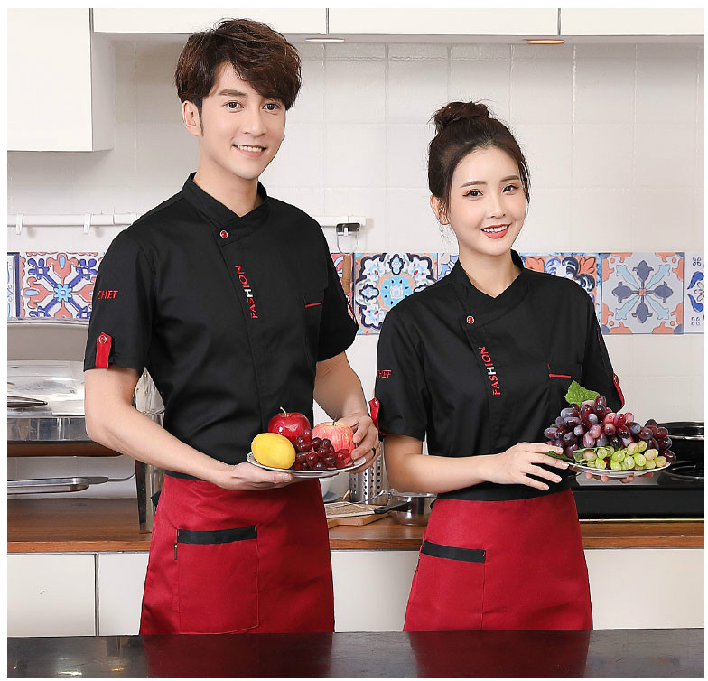 Image 3 - Unisex Chef Uniform Food Service Cook Jacket Long /Short Sleeve Kitchen Work Clothes Pastry Bakery Restaurant Cooking Overalls-in Chef Jackets from Novelty & Special Use