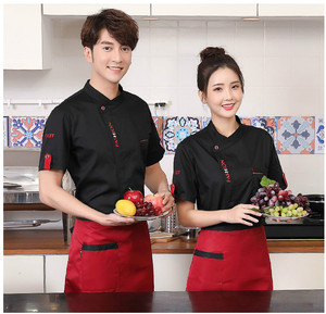 Image 3 - Unisex Chef Uniform Food Service Cook Jacket Long /Short Sleeve Kitchen Work Clothes Pastry Bakery Restaurant Cooking Overalls