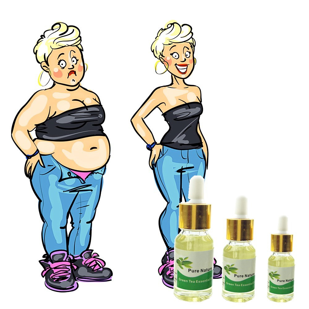 Best Slimming Effect Green Tea Essential Oil Navel Sticker Slim Patch Lose Weight Loss Burning Fat Cream 5/10/15ml