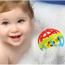 Newborn Baby Soft Rattles Fitness Fun Little Loud Bell Ball Grasping Toys Plastic Hand Bell Rattles