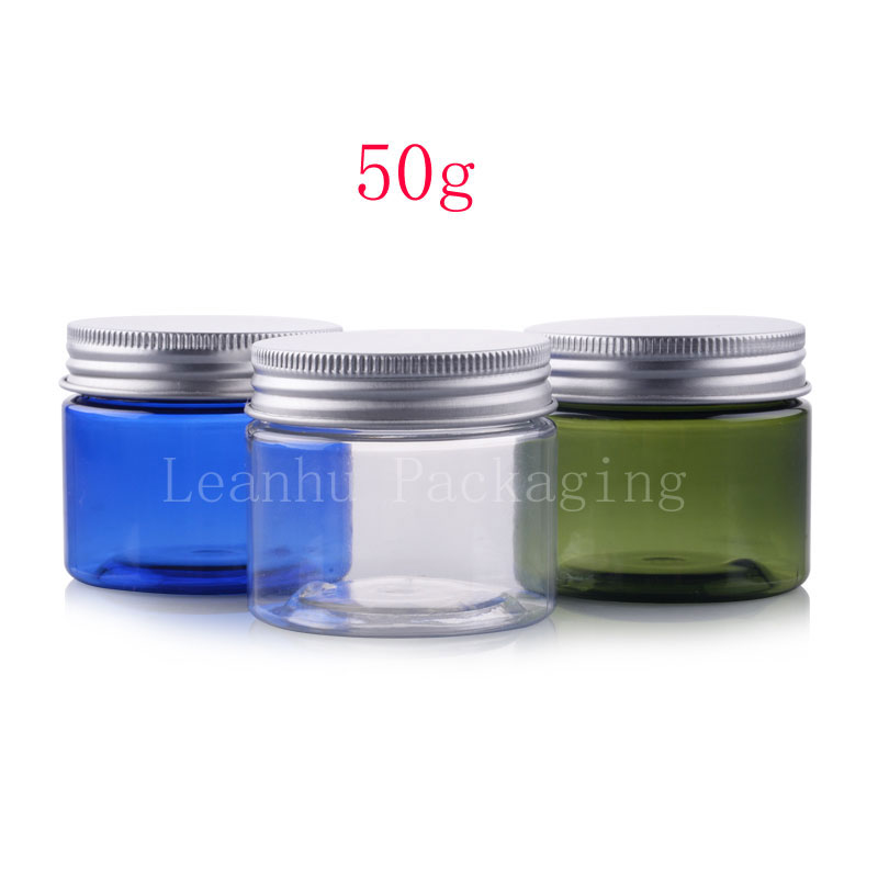 50g Empty Round Cosmetic Cream Pet Containers 1 7 Oz