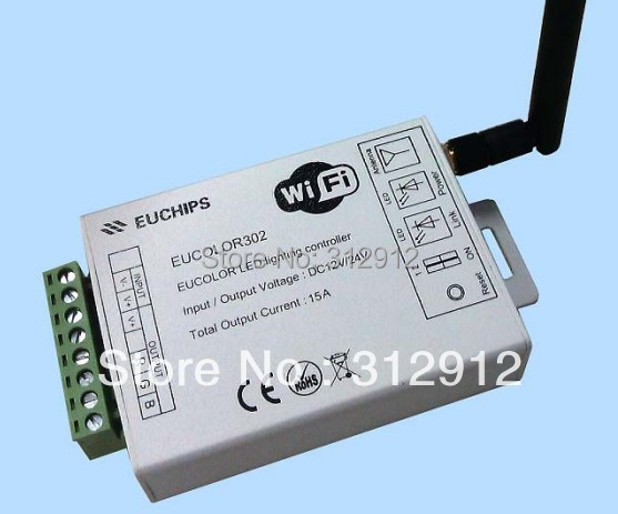 Eucolor302; 3 channel output RGB led wifi controller,DC12-24V input;5A*3 channel dmx512 digital display 24ch dmx address controller dc5v 24v each ch max 3a 8 groups rgb controller