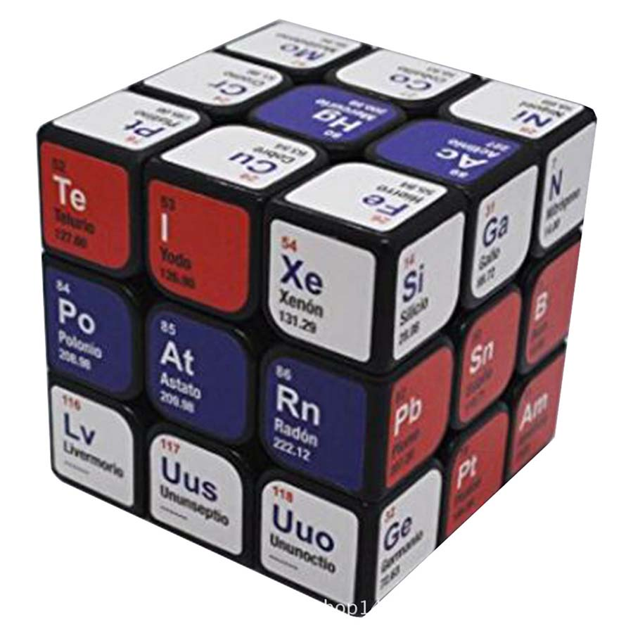 Magic Cube 3x3x3 Puzzle Element Period Chemistry Learning Neo Magico Cubo Educational Toys Gifts For Children Adults