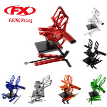 FX CNC Adjustable Motorcycle Foot Rests Rear Set Footpegs Fit for DUCATI 749 /999 All Years Footrests Foot Pegs