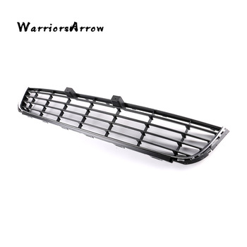 Front Bumper Center Lower Grille Grill Cover w/ Chrome For Volkswagen VW Golf MK6 2009 2010 2011 2012 2013 5K0853677A