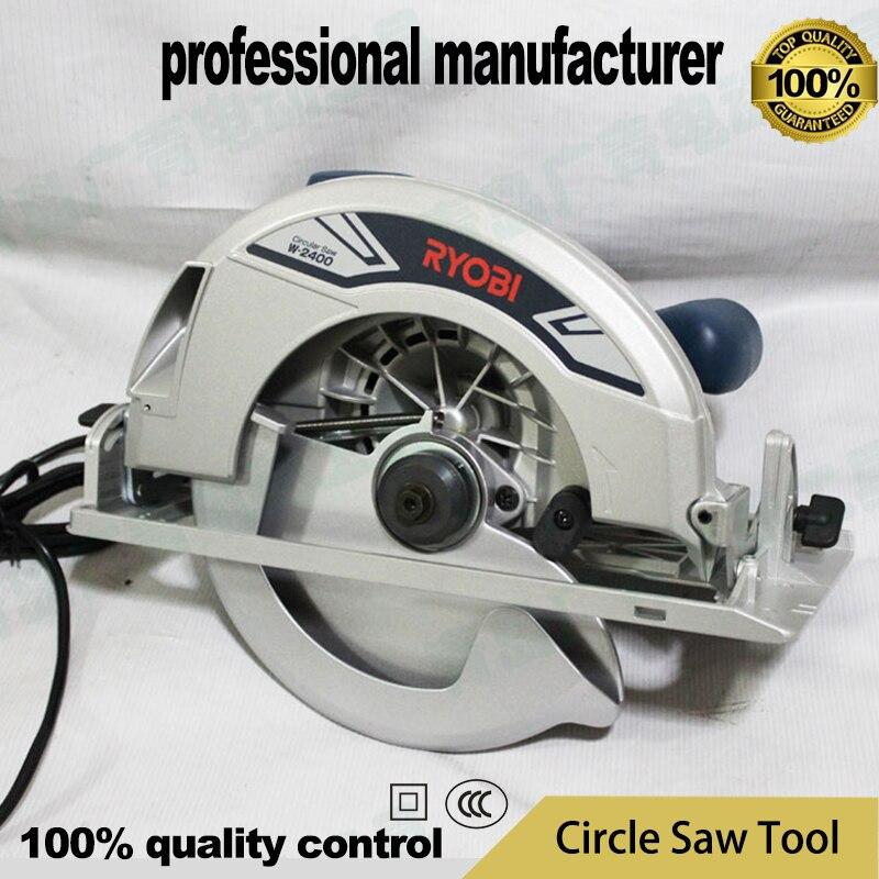 1950 w bois circulaire saww-2400 scie circulaire outil de travail du bois scie circulaire portable machine de découpe pour la décoration de la maison