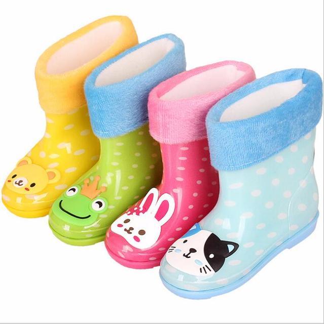 2018 yeni Karikatür çocuk yağmur ayakkabıları Erkek ve Kız Botları Anti-skid çocuk Su Geçirmez Öğrenci Su Botları