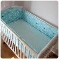 Promoção! 6 PCS Conjuntos de Cama Para Berço Do Bebê Algodão Marca 8 pcs Conjunto Berço Cama Infantil Bumper, inclui :( bumpers + folha + fronha)