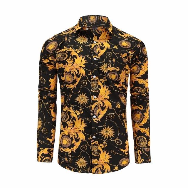 Clerence JeeToo 2018 цветок Для мужчин s рубашки с длинным рукавом Гавайский Для мужчин повседневная рубашка Regular Fit Хлопок плед Винтаж цветочный мужские рубашки