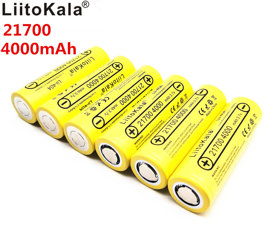 21700 Liitokala li lon battery 4000 mah 3.7V rate of discharge of power 15A 5C ternary car lithium battery Electric battery