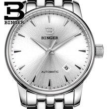 Швейцария часы мужские роскошные brand18K золото Наручные Часы БИНГЕР бизнес Механические Наручные Часы полный нержавеющей стали B5005A-6