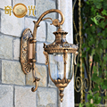 A lâmpada varanda europeu do corredor jardim lâmpada de parede ao ar livre lâmpada de parede de luxo villa pátio lâmpada fundo da parede parede à prova de água