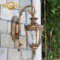 The balcony lamp European Garden aisle wall lamp outdoor wall lamp luxury villa courtyard lamp background wall waterproof wall