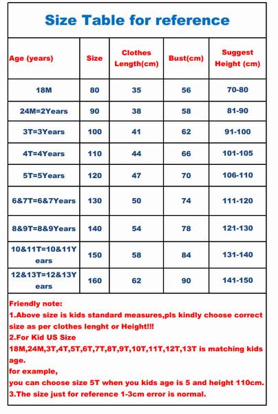 TSHIRT336 size tabel