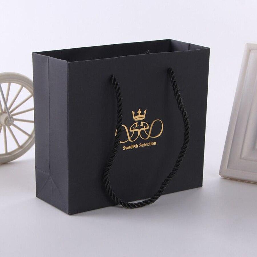 Popular Black Paper Shopping Bags-Buy Cheap Black Paper Shopping ...