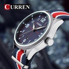 Curren Military Watch Men Fashion Casual Watches Men Wristwatch Nato Strap Sport Wrist Watch Male Clock Male Xfcs Reloj 8195